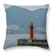 Busan Lighthouse Throw Pillow