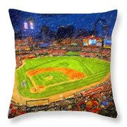 Busch Stadium At Night Rocks Throw Pillow
