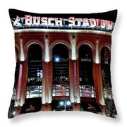 Busch Stadium Throw Pillow