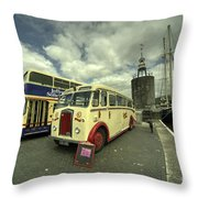 Buses N Boat  Throw Pillow