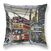 Buses Trams Trolleys Throw Pillow