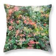 Bush Full Of Flowers. Throw Pillow
