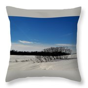 Bush In The Snow  Throw Pillow