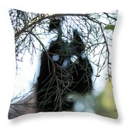 Bush Monster Throw Pillow