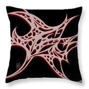 Bushal Of Thorns- Blue Shadow Throw Pillow