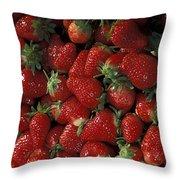 Bushel Of Strawberries Throw Pillow