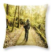 Bushwalking Tasmania Throw Pillow