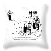 Business Card Cannon Throw Pillow