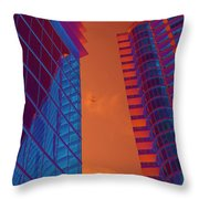 Business Travel, Architectural Abstract Throw Pillow