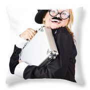 Business Woman In Disguise Throw Pillow