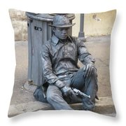 Busker In Rome Throw Pillow