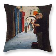 Buskers, Kilkenny Throw Pillow