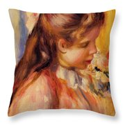 Bust Of A Young Girl Throw Pillow