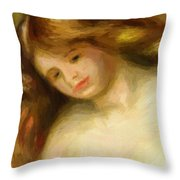 Bust Of A Young Nude 1903 Throw Pillow
