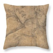 Bust Of A Youth Looking Upward [recto] Throw Pillow