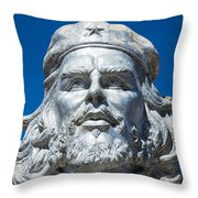Bust Of Che Guevara In La Higuera Throw Pillow