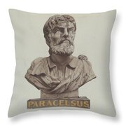 Bust Of Paracelsus Throw Pillow
