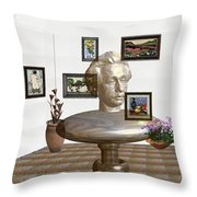 Bust Of The Spirit Of Einstein Throw Pillow
