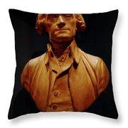 Bust Of Thomas Jefferson  Throw Pillow