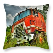 Busted And Rusted Throw Pillow