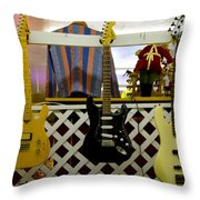 Busted Dreams Of Nashville Stardom Throw Pillow