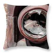 Busted Headlight Throw Pillow
