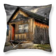 Busted Shack Throw Pillow