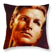 Buster Crabbe, Vintage Hollywood Legend Throw Pillow