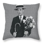 Buster Keaton Throw Pillow
