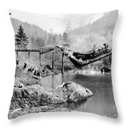 Buster Keaton: The General Throw Pillow by Granger