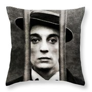 Buster Keaton, Vintage Actor Throw Pillow