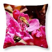 Busy As A Bee 031015 Throw Pillow