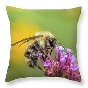 Busy As A Bee Throw Pillow