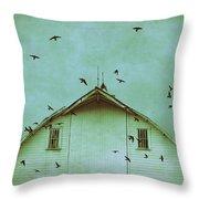 Busy Barn Throw Pillow by Julie Hamilton