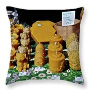 Busy Bee Keepers Throw Pillow