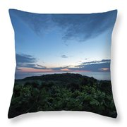 Busy Boats At Blue Hour Throw Pillow
