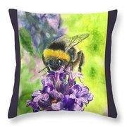 Busy Bumblebee Throw Pillow