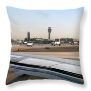 Busy Day At Sky Harbor Throw Pillow