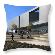 Busy Day At Tampa Museum Of Arts Throw Pillow