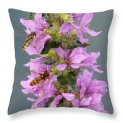Busy Flower Throw Pillow