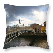 Busy Ha'penny Bridge 4 Throw Pillow