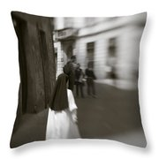 Busy Nun Throw Pillow