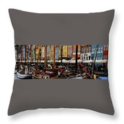 Busy Nyhavn Throw Pillow