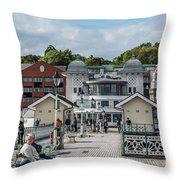 Busy On The Pier 1 Throw Pillow