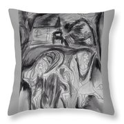 But The Night Was Moonlit Throw Pillow