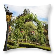 Butchart Gardens Arches Throw Pillow
