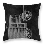 Butcher's Wagon Patent Throw Pillow