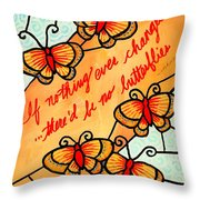 Buterflywhispers2 Throw Pillow
