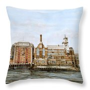 Butlers Wharf And Courage's Brewery Throw Pillow