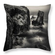 Butt Of Lewis Cliffs Throw Pillow